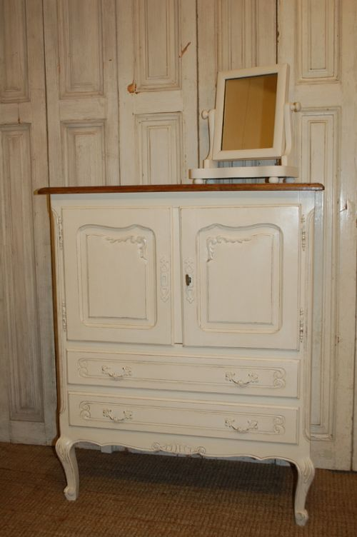 vintage french louis xv revival cabinet with drawers