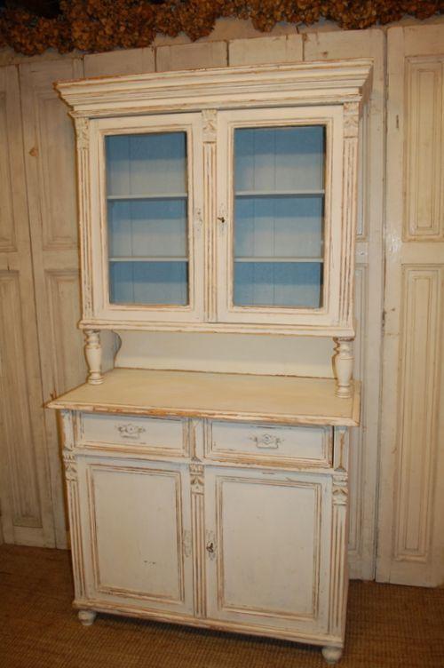 Antique Painted Pine Kitchen Dresser Kitchen Cabinet 1850 285138