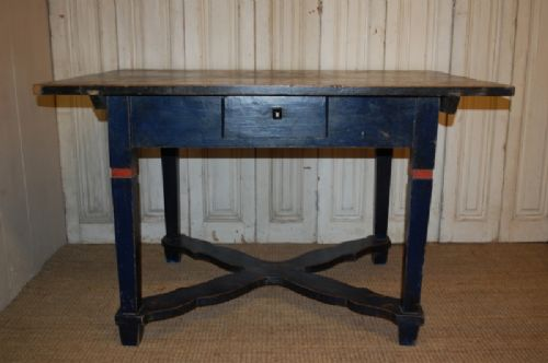 antique decorated primitive country table kitchen table original paint dated 1879