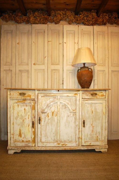 Antique Rustic Pine Dresser Base Side Board Kitchen