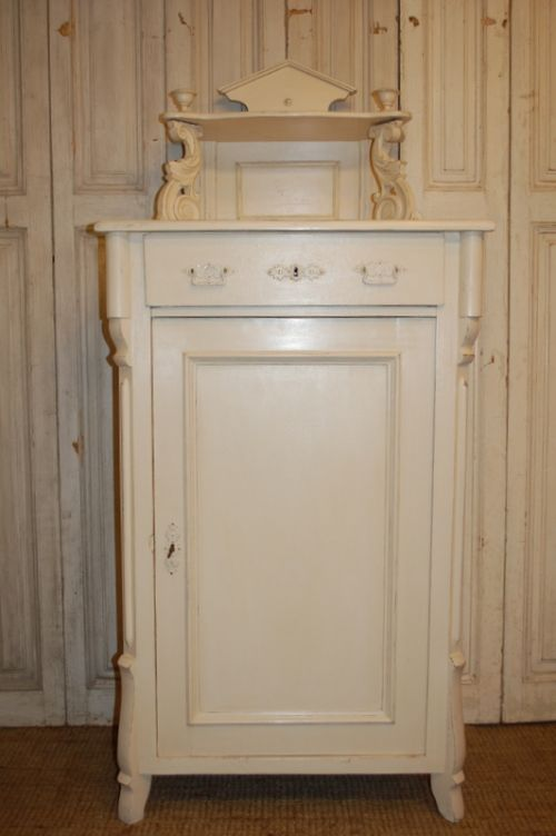 antique danish pine tall boy storage cupboard