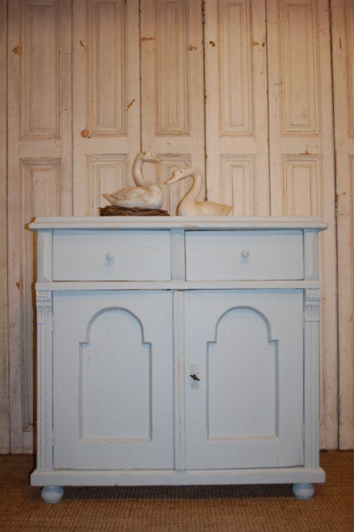 antique rustic pine dresser base server side board