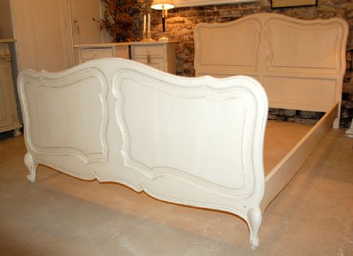 antique french provencal oak double bed