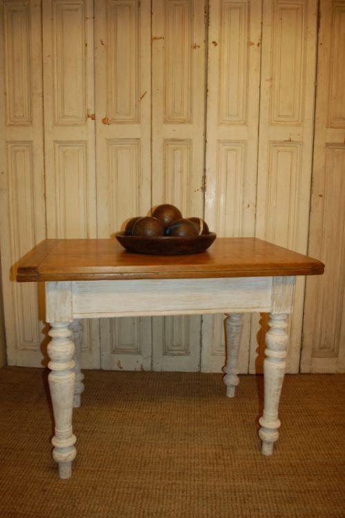Antique Pine Farmhouse Extension Table 1860