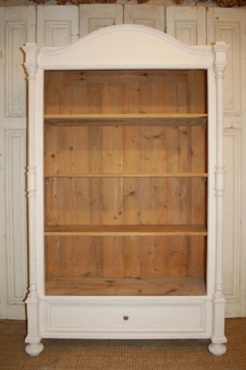 antique pine decorative bookcase shelf unit 1880
