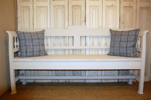 antique gustavian style pine country settle bench pew