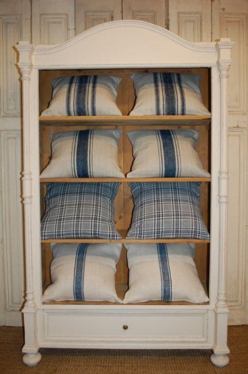 antique pure linen cushion