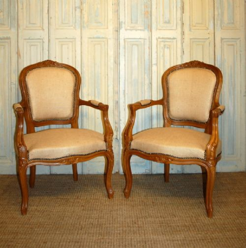 pair of antique french armchairs fauteuils