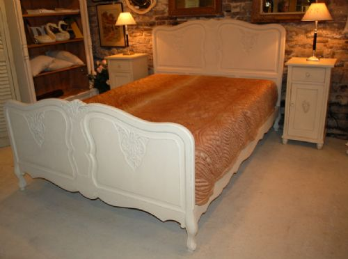 antique french oak louis xv revival near king size bed