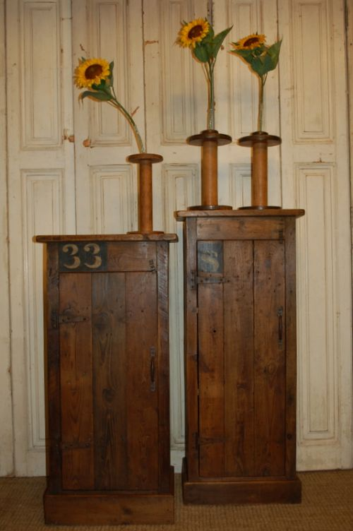 antique reclaimed mill timber cupboards original stencil numbers