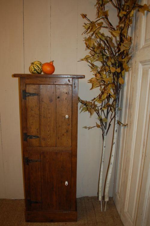 antique reclaimed mill timber 2 door cupboard