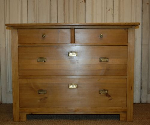 antique pine chest of drawers art nouveau 1900