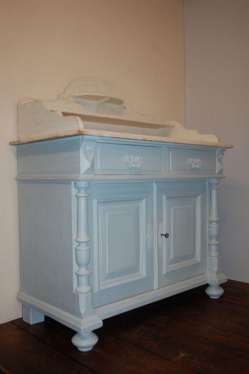 antique danish pine base storage cupboard original painted marbled top 1870