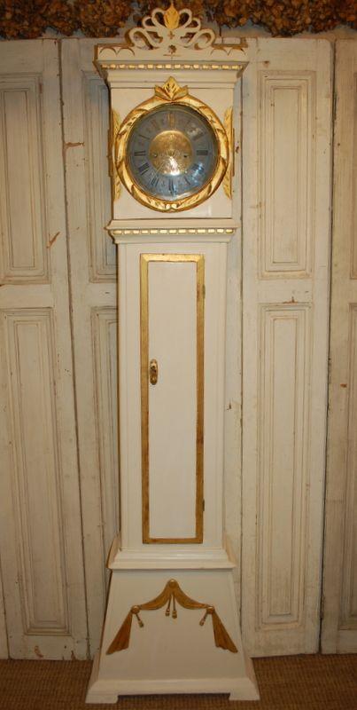 antique danish floor clock 1815 documented provenance