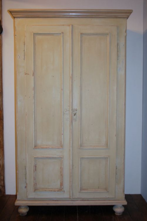 antique pine storage cupboard larder cupboard linen cupboard in original paint