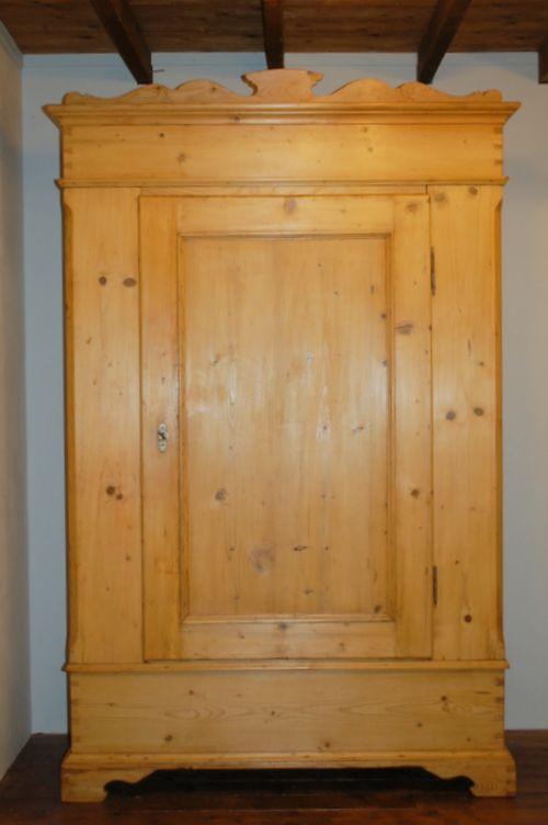 antique pine single size wardrobe 1870