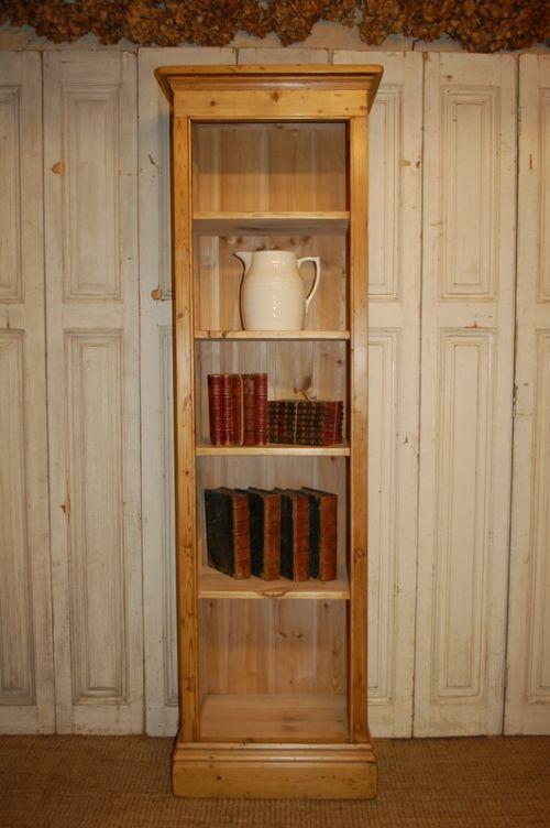 victorian style reclaimed pine bookcase shelf unit