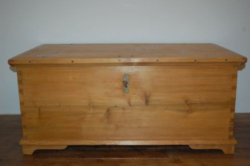 antique pine dowry chest bedding box trunk dated 1863