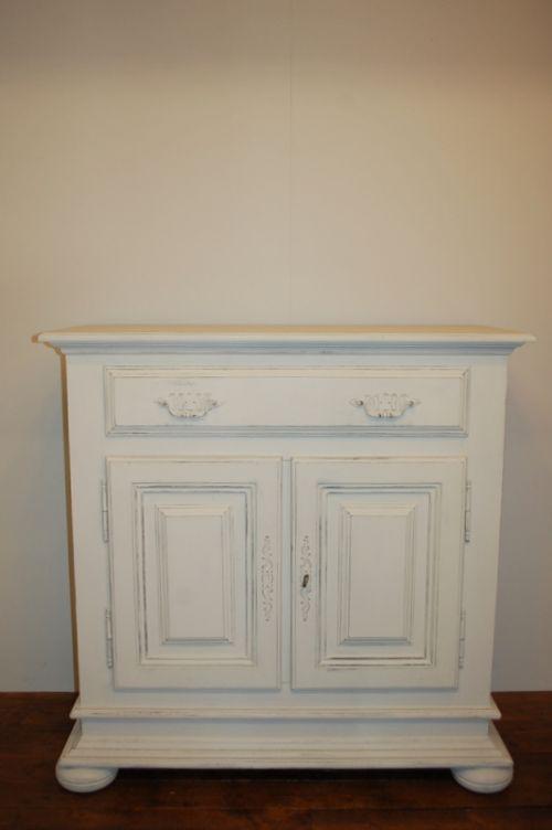 vintage flemish oak cabinet side board