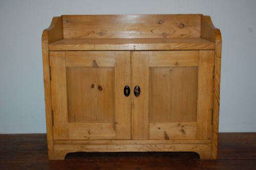 antique small pine console cupboard storage cabinet 1880 - Antique Small Pine Console Cupboard / Storage Cabinet 1880 350759