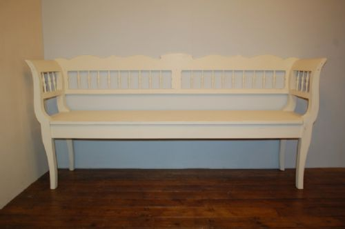 antique pine country settle bench pew 1860