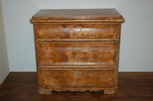 antique regency pine chest of drawers original paint