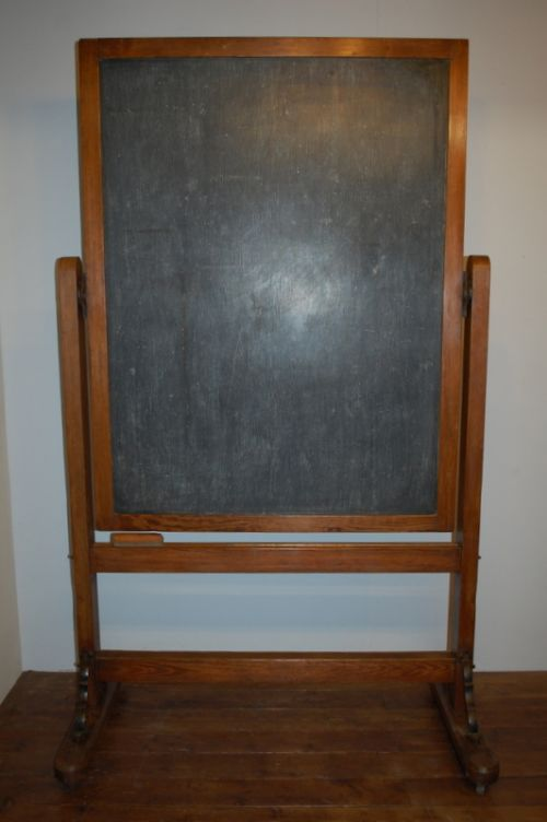 antique school blackboard on stand 1900