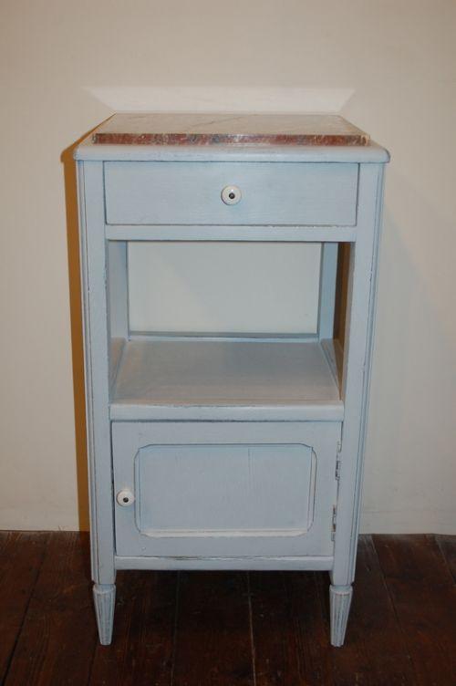Antique French Oak Bedside Cabinet  Pot Cupboard  Side Cabinet