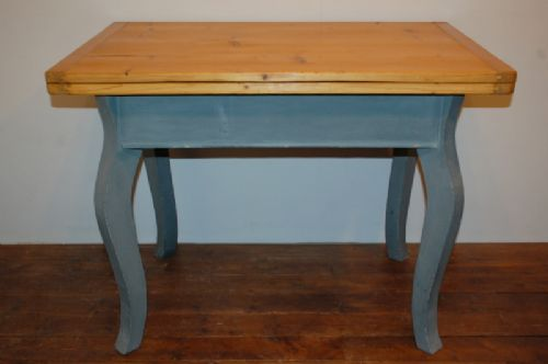 Antique Pine French Style Extension Table Flip Top Kitchen Table 1870