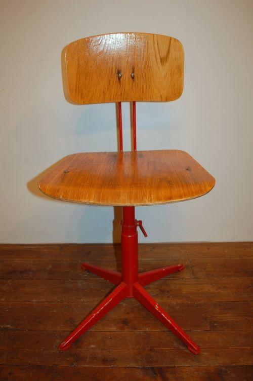 antique vintage industrial swivel machinist chair