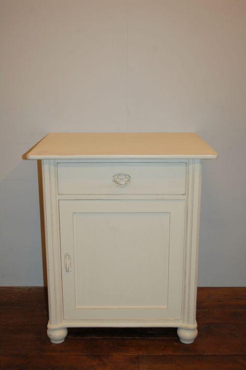 antique painted pine side cabinet large bedside cabinet 1900