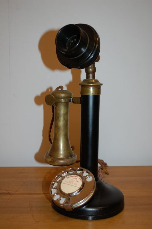 antique candle stick phone in working order 1920