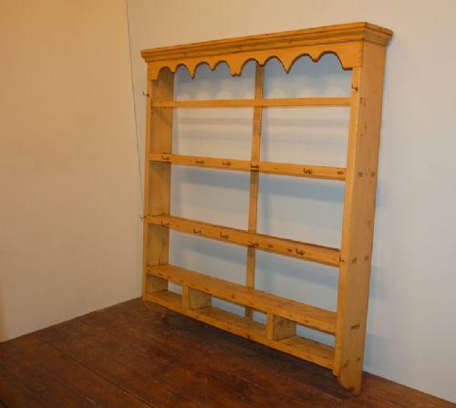 georgian pine delft rack wall shelf 1820