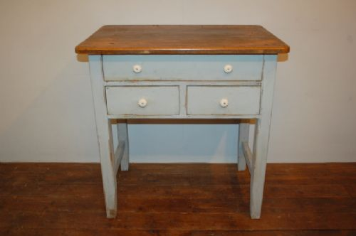 antique rustic pine side table side board server console 1850