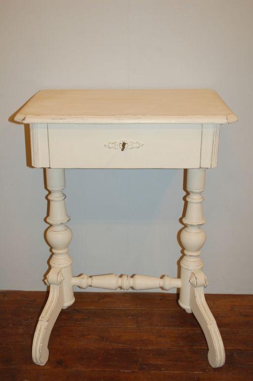 antique pine lamp table side table lady's desk art nouveau 1900