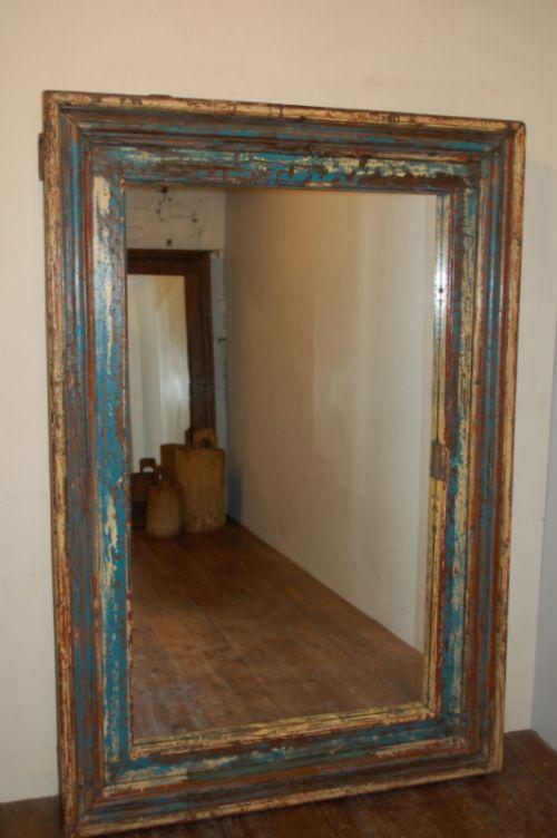 large antique mirror in original paint