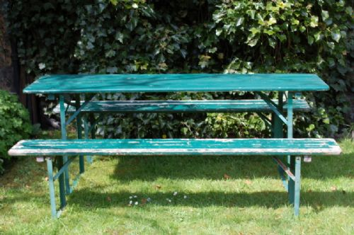 Vintage Continental Beer Garden Set / Folding Garden Table And ...