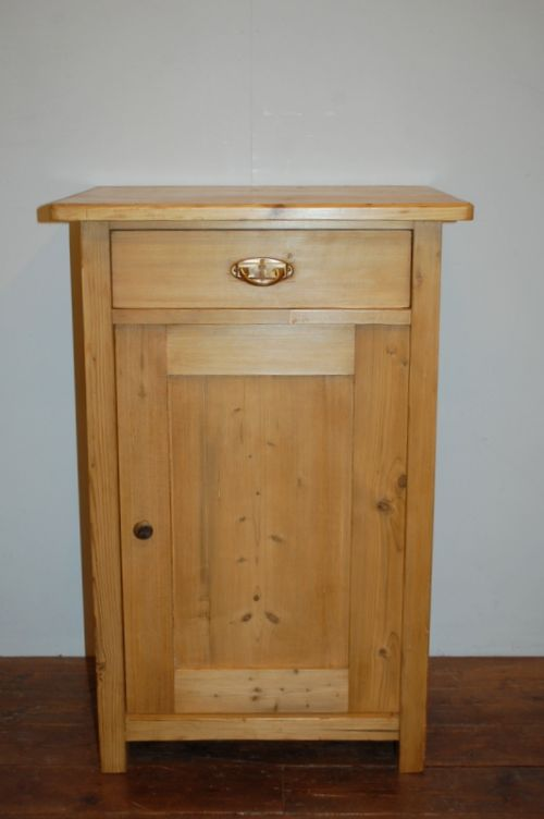 antique pine small side cabinet lamp table 1900