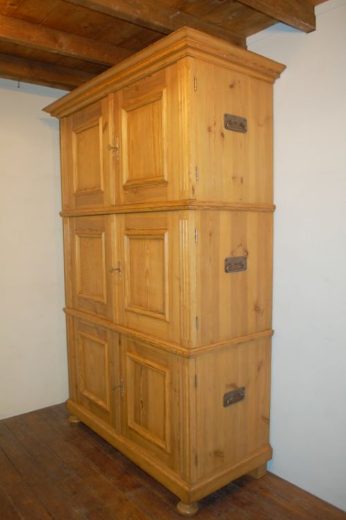 antique pine stacking storage cupboard