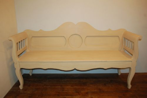 antique painted pine settle bench 1860