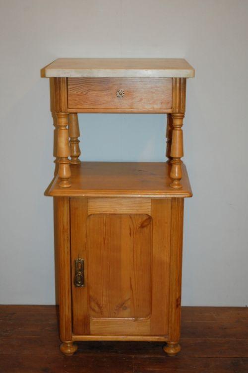 antique pine single bedside cabinet 1880