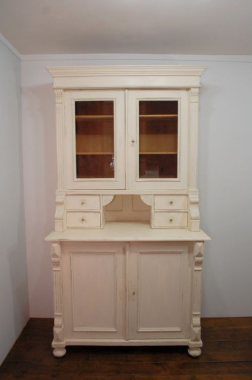 antique pine kitchen dresser in orignial paint 1870