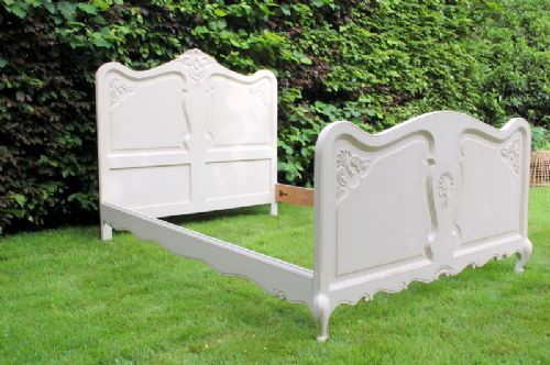 antique french provencale painted oak double bed