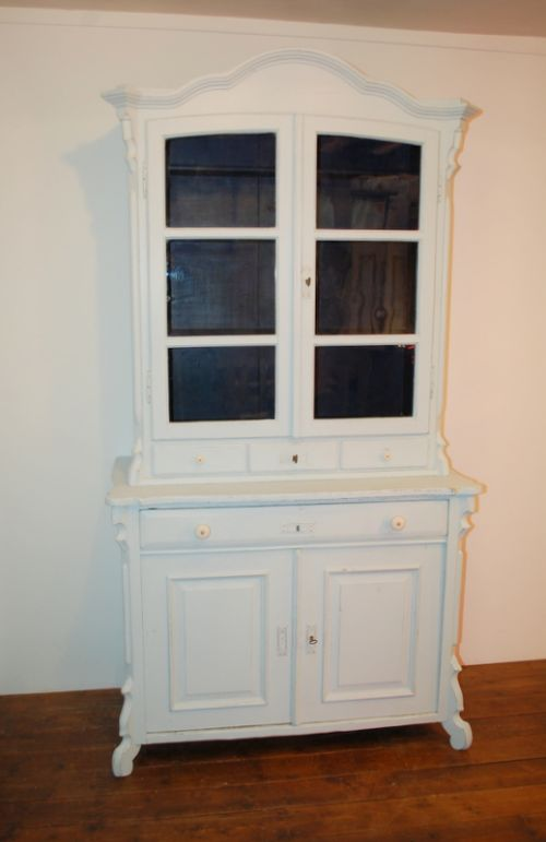 antique pine painted kitchen dresser cabinet 1870