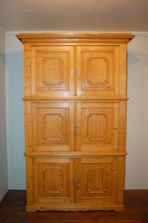 antique pine stacking storage cupboard 1870