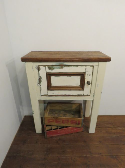 antique reclaimed mill pine console cupboard
