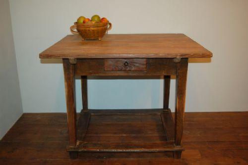 antique rare mulberry farmhouse kitchen table 1840