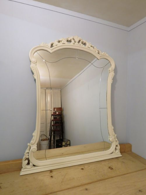 antique french louis xv revival mirror 1900