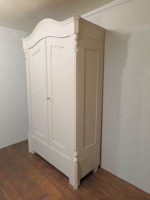 antique painted pine louis philippe armoire wardrobe dismantles