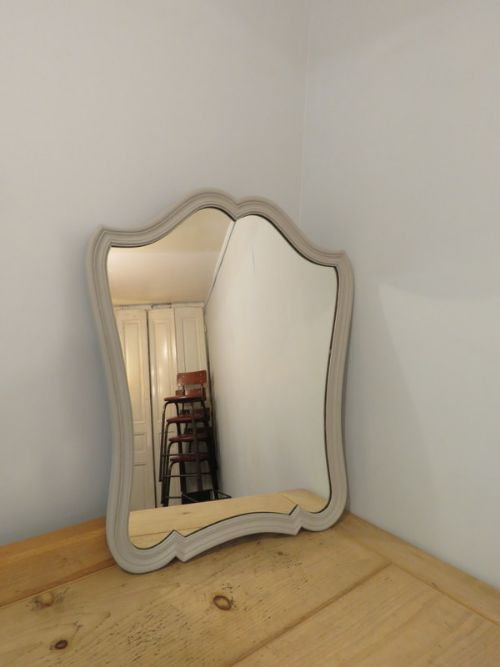 antique french oak painted wall mirror